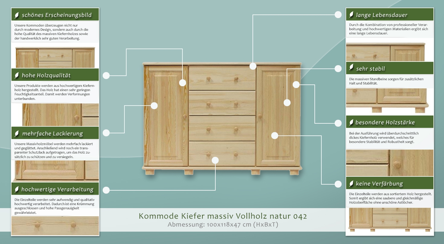 dielenschrank niedrig kommode flurschrank 118 cm breit t ren 2 h he cm 100 l nge tiefe. Black Bedroom Furniture Sets. Home Design Ideas