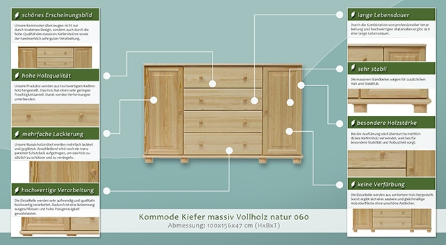 dielenschrank niedrig kommode flurschrank 156 cm breit t ren 2 h he cm 100 l nge tiefe. Black Bedroom Furniture Sets. Home Design Ideas
