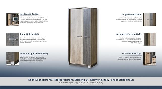 schlafzimmerschrank t ren 2 h he cm 193 l nge tiefe. Black Bedroom Furniture Sets. Home Design Ideas