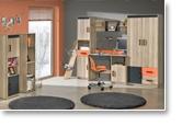 Jugendzimmer kommode elsa 11 farbe esche orange grau for Wohnlandschaft zusammenbauen