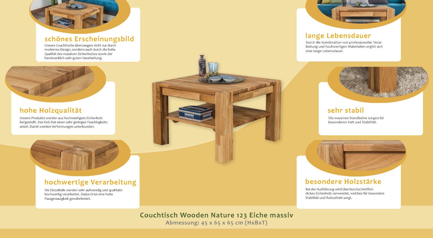 beistelltisch couchtisch eiche massivholz farbe natur. Black Bedroom Furniture Sets. Home Design Ideas