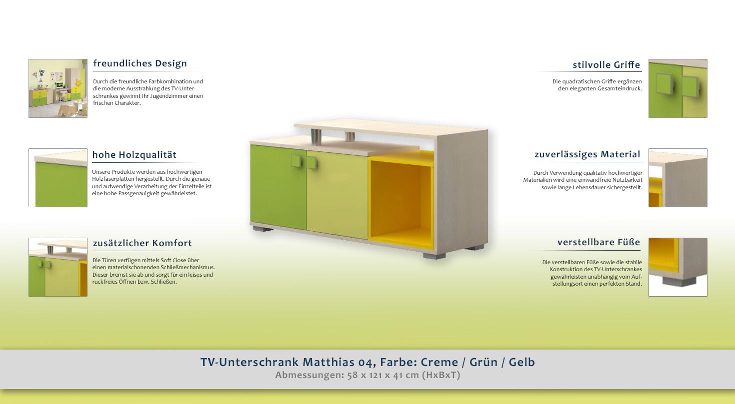 fernsehtisch farbe creme 58x121x41 cm t ren 2 h he cm 58 l nge tiefe cm 41 breite cm. Black Bedroom Furniture Sets. Home Design Ideas