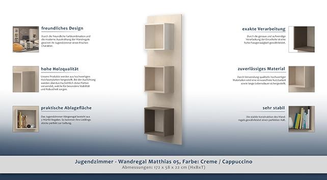 kinderzimmer regal 58 cm breit farbe creme h he cm. Black Bedroom Furniture Sets. Home Design Ideas