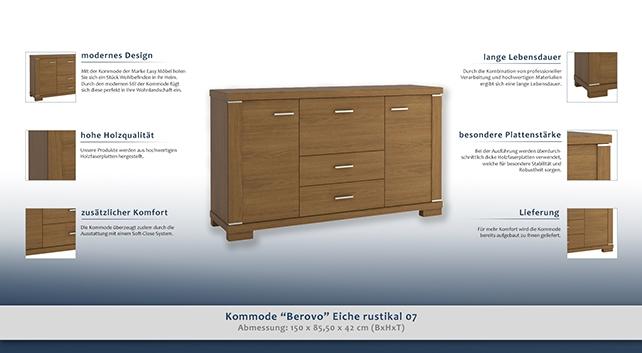 dielenschrank niedrig kommode flurschrank 150 cm breit t ren 2 h he cm 85 5 l nge tiefe. Black Bedroom Furniture Sets. Home Design Ideas