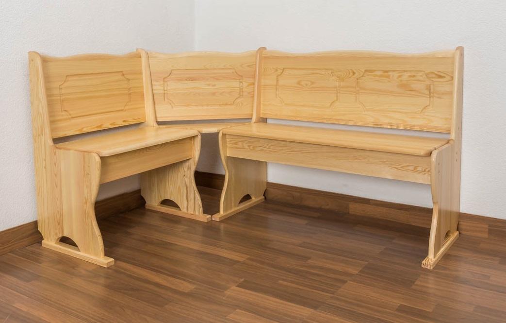 eckbank kiefer massiv vollholz natur junco 243 abmessung 85 x 147 x 107 cm. Black Bedroom Furniture Sets. Home Design Ideas