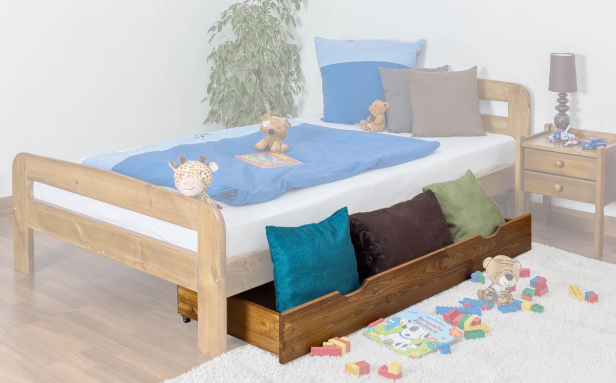 schublade f r bett kiefer vollholz massiv eichefarben 002 abmessung 18 50 x 150 x 57 cm h x. Black Bedroom Furniture Sets. Home Design Ideas
