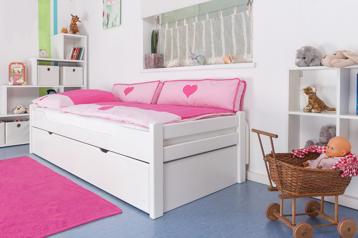 kinderbett ausziehbar. Black Bedroom Furniture Sets. Home Design Ideas
