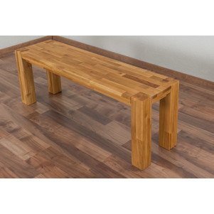 Bank Wooden Nature 133 Eiche massiv - 120 x 33 cm (L x B)