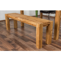 Bank Wooden Nature 133 Eiche massiv - 140 x 33 cm (L x B)