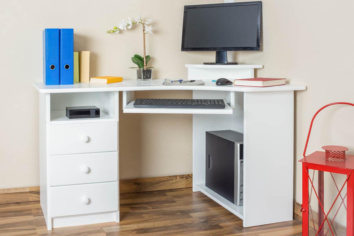 Schreibtisch Holz Weiß 2021