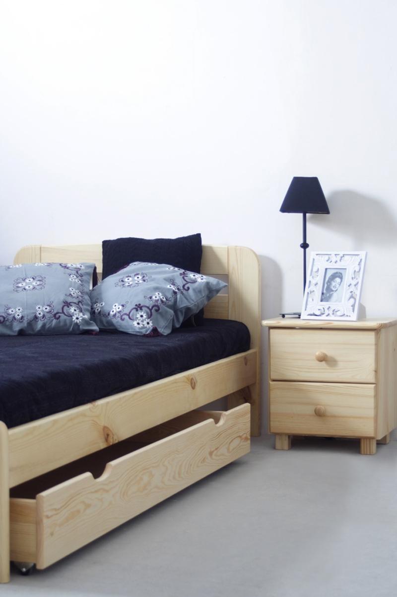 schublade f r bett kiefer vollholz massiv natur. Black Bedroom Furniture Sets. Home Design Ideas