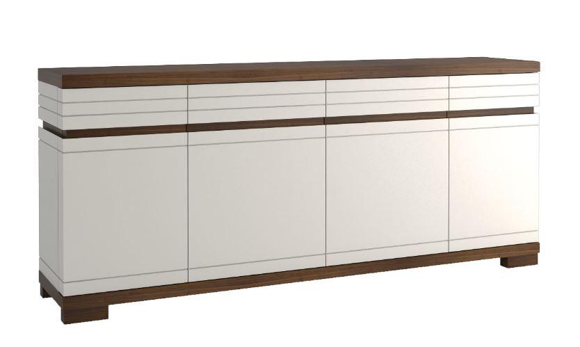 kommode uricani nuss wei 11 abmessungen 200 x 85 50. Black Bedroom Furniture Sets. Home Design Ideas